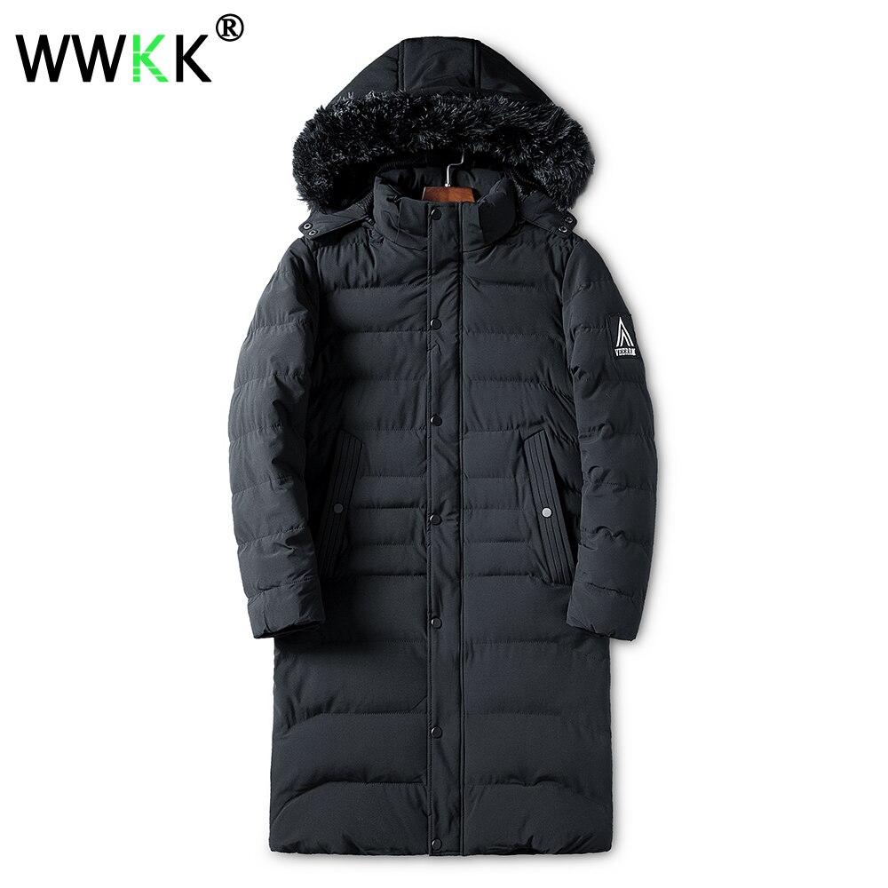 5e4b27b155d 2018 WWKK Длинные теплые зимние куртки парки мужские пальто тренчи мужские  толстые мягкие пальто мужские s Аляска Куртка Верхняя одежда плюс ра.