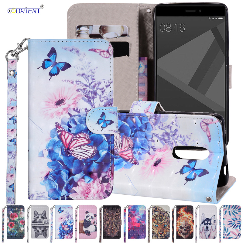 3D Cartoon Phone Case for <font><b>Xiaomi</b></font> <font><b>Redmi</b></font> <font><b>Note</b></font> 4 Note4 Pro 4/64 Flip Leather Cover for Xiomi <font><b>Redmi</b></font> <font><b>Note</b></font> <font><b>4X</b></font> <font><b>3/32</b></font> Global Version Case image
