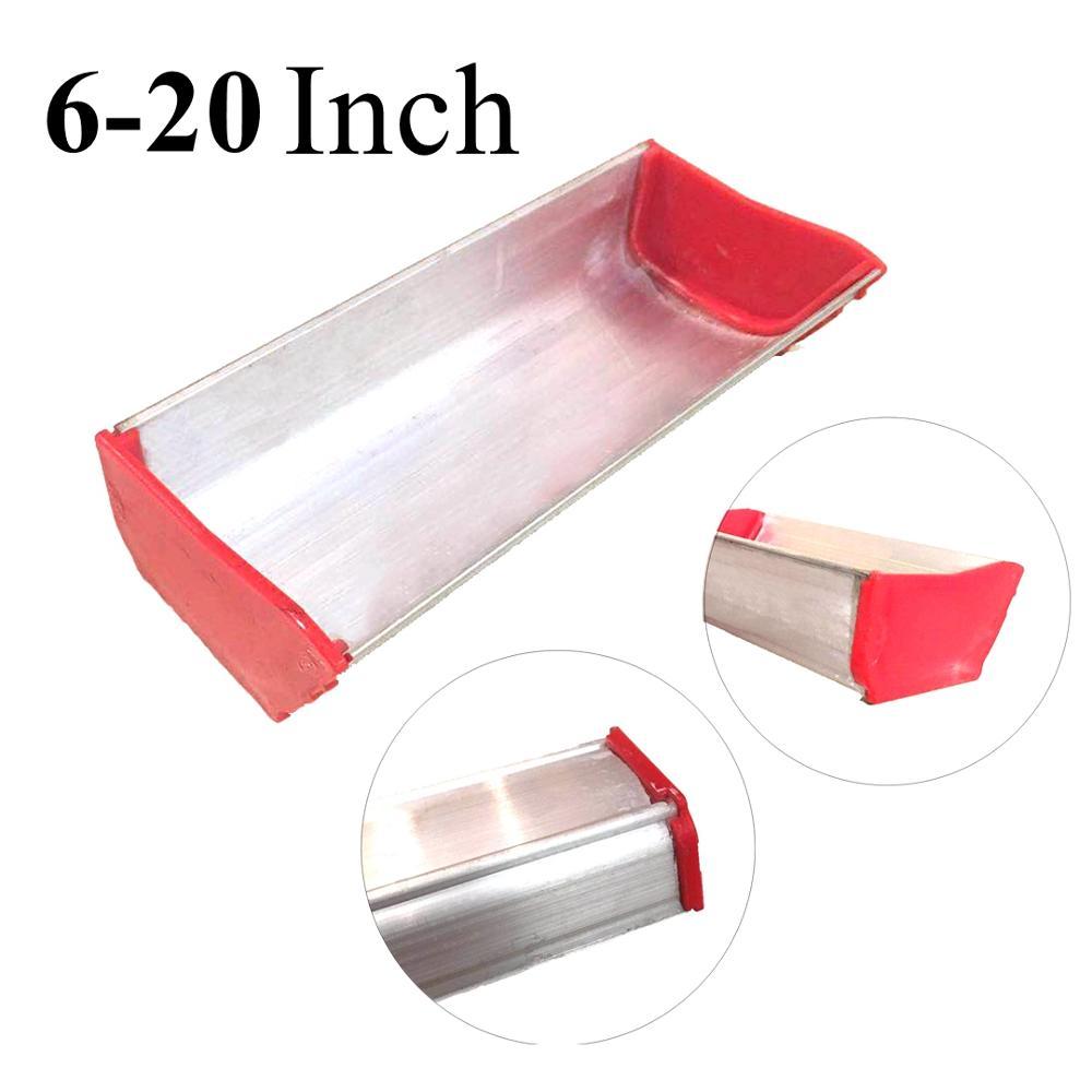 6-20 Inch Screen Printing Aluminum Alloy Emulsion Scoop Coater 15-50CM Silk Screen Printing Sizing Scrape Coating Press Tools