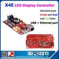 Прокрутки сообщения из светодиодов дисплей контроллера KALER X4E usb и ethernet из светодиодов управления 1024 * 64 пикселей 4 шт. 12 разъём(ов) 2 шт. 08 разъём(ов)