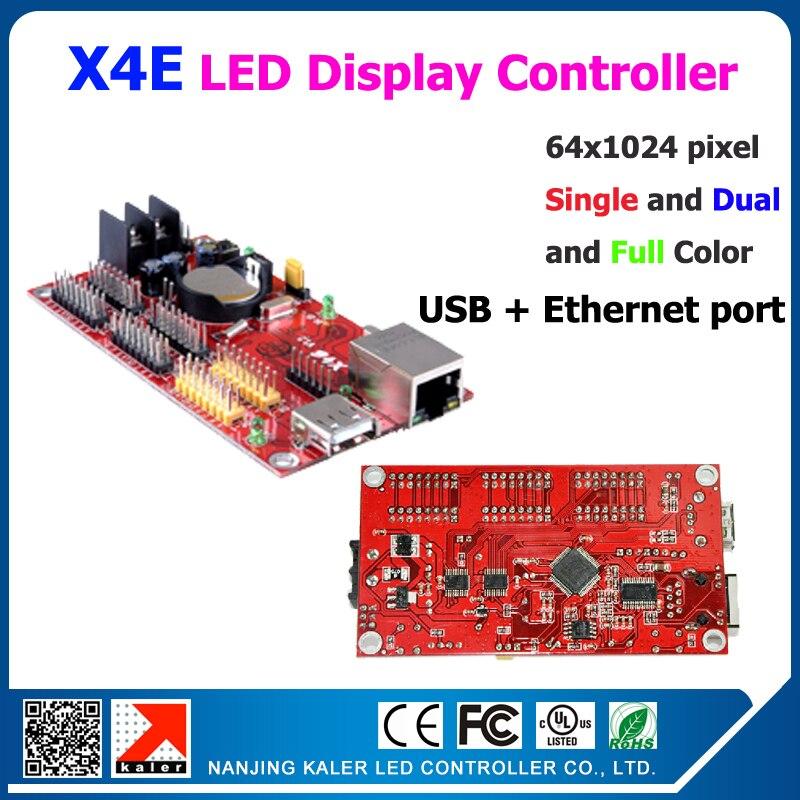 Kaler Scrolling Message Led Display Controller KALER X4E Usb &  Ethernet Led Controller 1024*64 Pixel 4pcs 12port 2pcs 08 Port