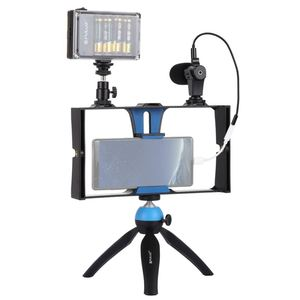 Image 2 - PULUZ Smartphone Video Rig + LED Studio Light + Video Microphone + Mini Tripod Mount Kits with Cold Shoe Tripod Head for iPhon