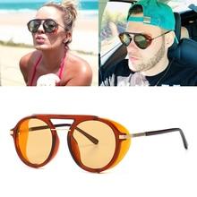 JackJad 2019 Fashion Vintage SteamPunk Style Side Shield Sunglasses