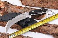 LW Karambit Taktische Feste Messer  440C Klinge Ebenholz Griff Überleben Messer  Jagdmesser.|fixed knife|tactical fixed knifesurvival knife -