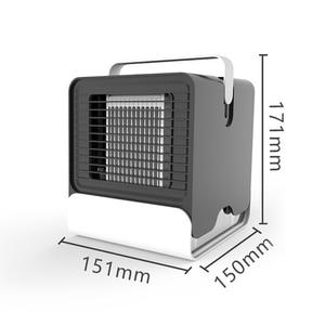 Image 2 - Usb мини портативный кондиционер увлажнитель воздуха очиститель отрицательных ионов вентилятор охлаждения воздуха кулер вентилятор с ночным освещением для офиса