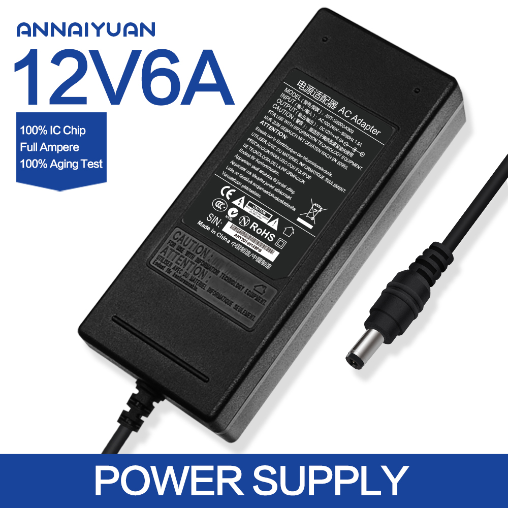 For Haier ac dc adapter 12v 6a lcd monitor power supply box js-12060-3k 12v6a 4 needle pin DC connector5.5*2.1