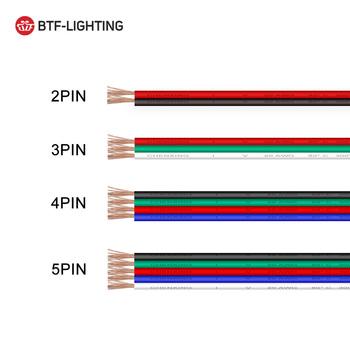 10m 2pin 3pin 4pin 5pin 22AWG 20AWG 18AWG złącze led przedłużacz kabla tanie i dobre opinie 2pin 3pin 4pin 5pin extension cable