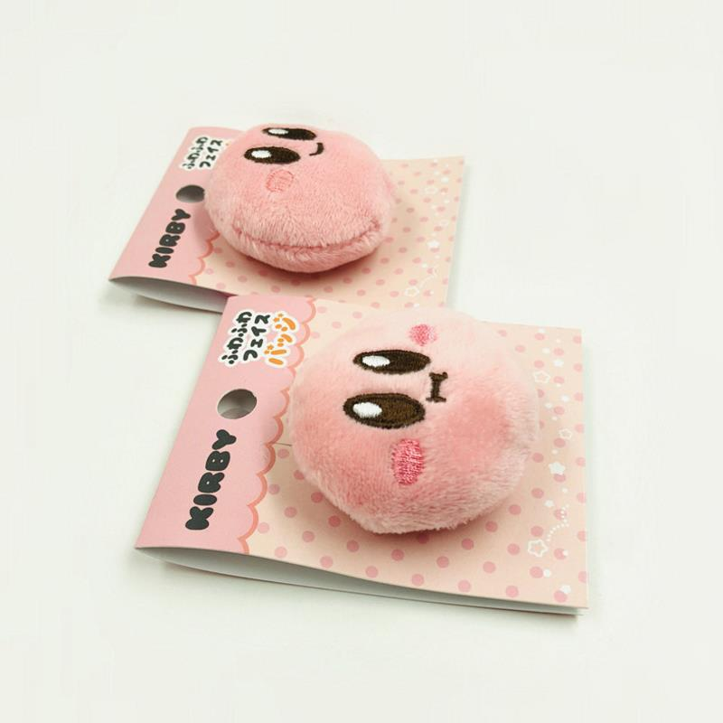1pc Fashion Cute Kirby Star Plush Doll Badges Cute Icons On The Backpack Pin Brooch Badge Plush Toys Gift