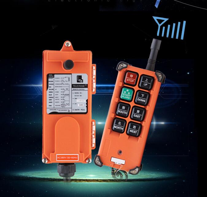 Industrial remote controller Hoist Crane Control Lift Crane 1 transmitter + 1 receiver nice uting ce fcc industrial wireless radio double speed f21 4d remote control 1 transmitter 1 receiver for crane