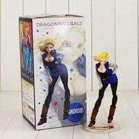 19cm Dragon Ball ANDROID NO 18 Lazuli Figure Model Toy DragonBall Z Gals Super Saiyan NO