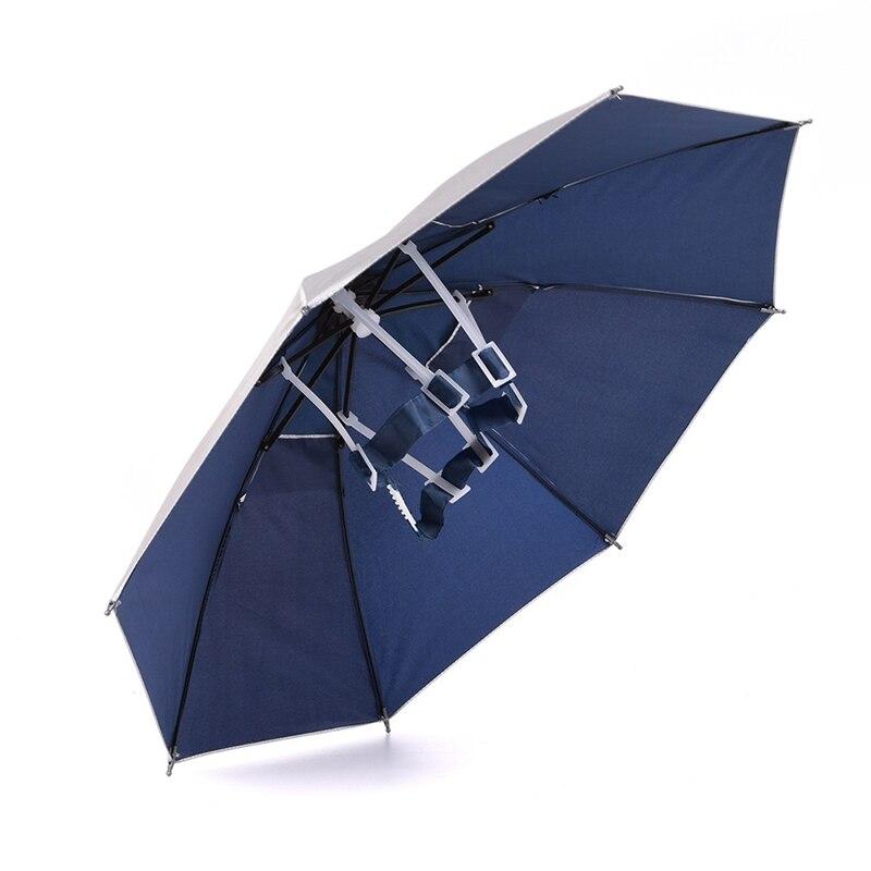 Umbrella Fishing Cap Sports Hat Outdoor Hiking Camping Headwear Cap Head Hats Foldable Umbrella Shade Sun Shade