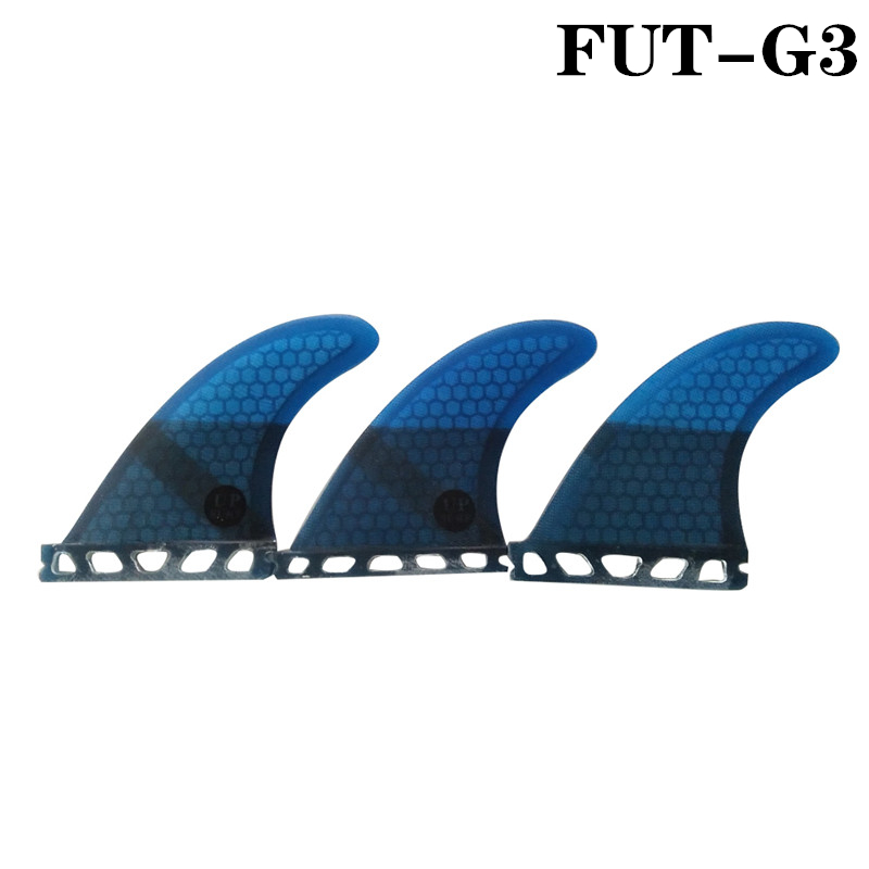 Surf Future G3 Blue Color Ith Fiberglass Honey Surfing Fin 3PCS Tri Fin Set