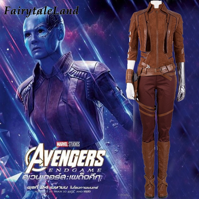 Avengers Endgame Nebula Cosplay Costume Halloween granddaughter of Thanos Nebula Costumes full outfit Avengers 4 customized