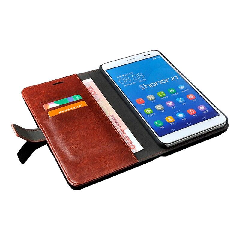 imágenes para Cubierta de la caja del Nuevo tirón de Lujo del teléfono de la tableta de Huawei honor x1 cubierta de cuero monedero Genuino Para Huawei MediaPad X1 funda 7.0 pulgadas