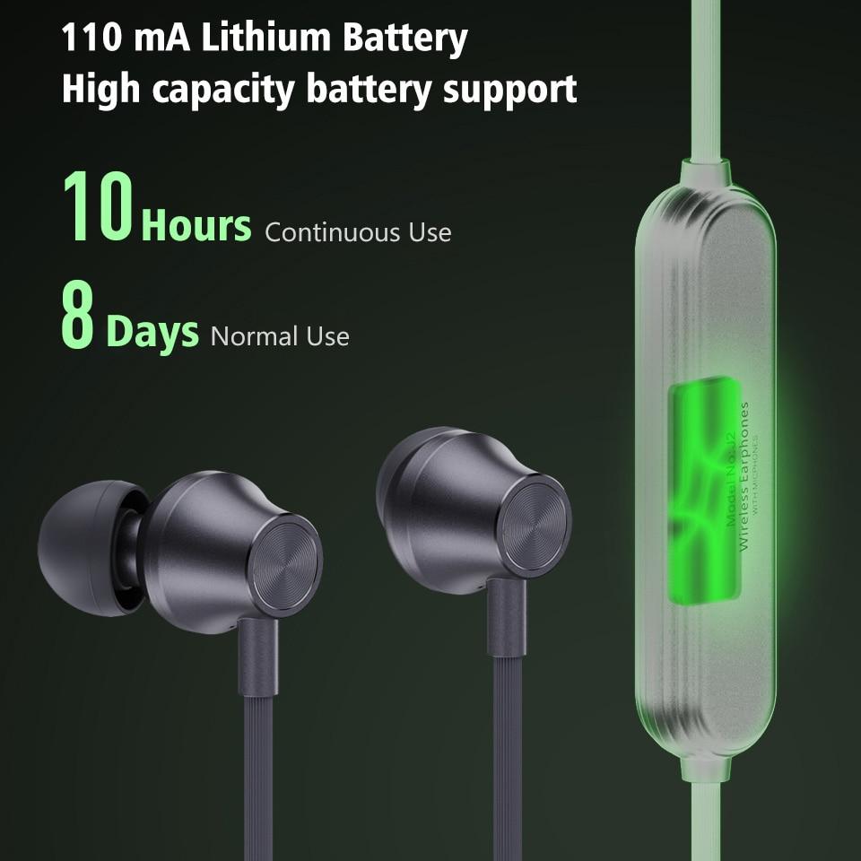 Image 4 - J2 bezprzewodowy zestaw słuchawkowy Bluetooth 5.0 słuchawki do Xiaomi iPhone wodoodporne słuchawki z pałąkiem na kark magnetyczny z Mic auriculares fone de ouvidoSłuchawki douszne i nauszne Bluetooth   -