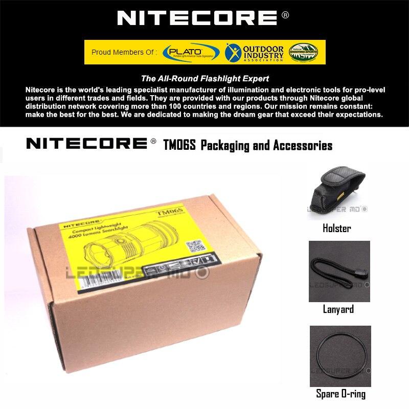 New product 2015 2016 Tiny Monster Nitecore TM06S 4000 Lumens CREE XM L2 U3 LED Searchlight Flashlight - 6