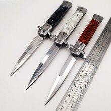 Итальянский Крестный отец Складной нож 440C Лезвие акриловая деревянная ручка карманные ножи кемпинг выживание тактический быстро открыть EDC инструменты