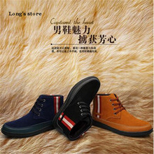 CDTS  Plus:37- 45  Autumn/Winter Ankle Martin  Add wool Boots Lace-Up Genuine leather oxford men's shoes male outdoor snow Flats