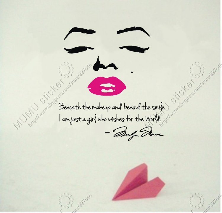 fashion sprüche englisch fashion marilyn monroe red lips English wall stickers Home  fashion sprüche englisch