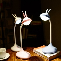 Usb Charging Children Sleeping Cute Rabbit Desk Lamp Led Dimming Novelty Night Light For Book Reading