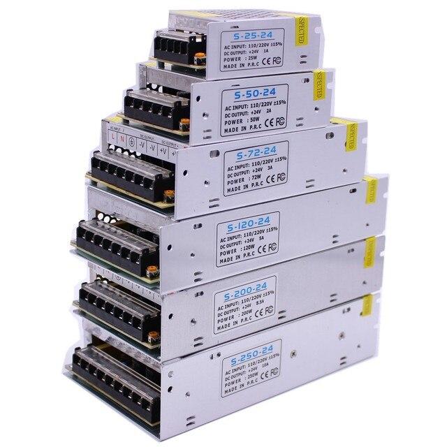 Adaptateur dalimentation pour transformateur déclairage Led bande, pilote AC100 240V LED à DC5V 12V 24V, 1A 2A 3A 5A 10A 15A 20A 30A 40a 60a
