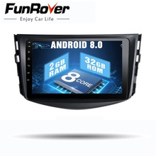 Funrover IPS android 8.0 Car dvd multimedia player For Toyota Rav4 2007 2008 2009 2010 2011 2 din car radio gps player 8 cores