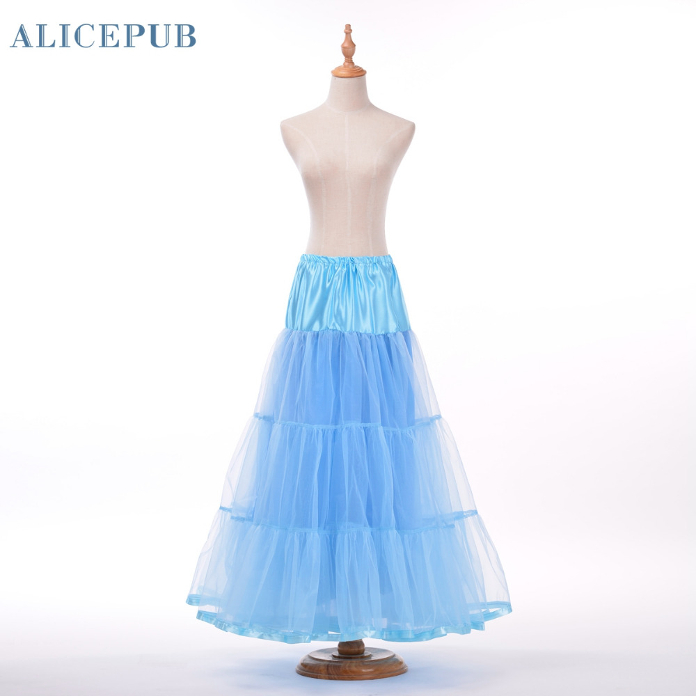 long organza halloween petticoat crinoline vintage wedding dresses plus size underskirt rockabilly tutu qc160009china - Halloween Petticoat