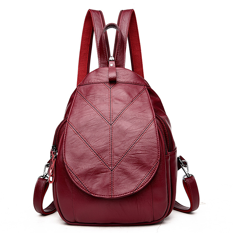 Preppy Style Soft Leather Backpacks Women Shoulder Bags Student Bag For Teenage Girls Daily Daypacks Backpack Mochilas Femininas leather backpack women backpacks for teenage girls school shoulder bags black summer style vintage mochilas mujer daily backpack