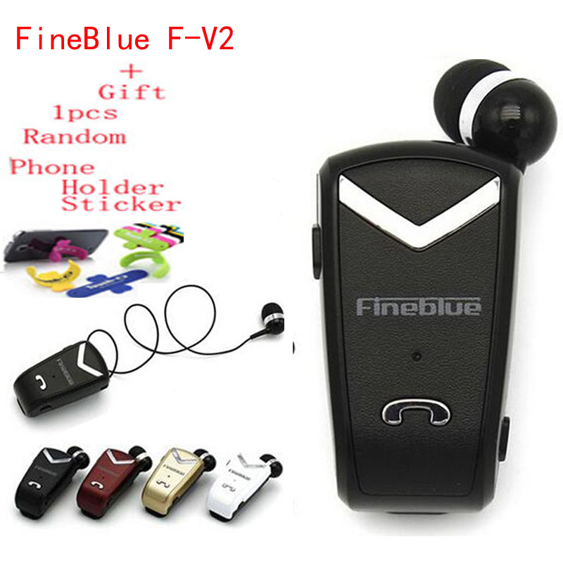 FineBlue F-V2 Bluetooth Earphone Auriculares Mini Version Calls Remind Wear Clip Headphone for Business Driving Music Headset wireless bluetooth earphone fineblue f sx2 calls remind vibration headset with car charger for iphone samsung handfree call