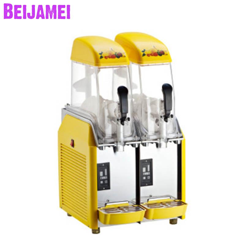 Beijamei Snow Melting Machine 220V Electric Slush Machines Cold Drink Maker Smoothies Making Sand Ice Machine
