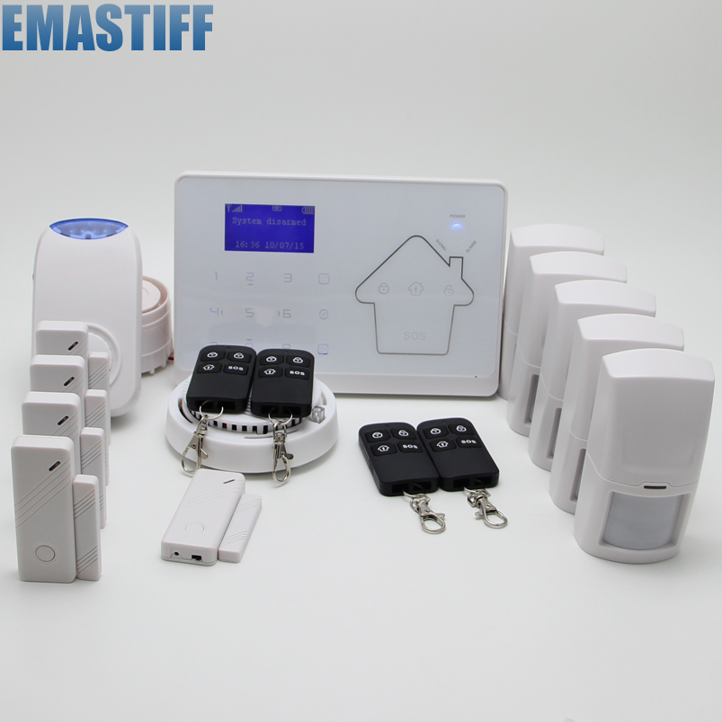 ANDROID IOS APP Wireless Wired GSM$PSTN Alarm System Telephone Touch keypad Color Display Security System Smoke Detector creative book shaped wired telephone deep blue