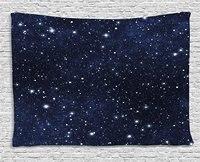 Notte Arazzo Celeste Stella Riempito Cielo Scuro Vivid Tema Cosmos Galactic Cluster Costellazione Appeso A Parete per la Camera Da Letto Dormitorio