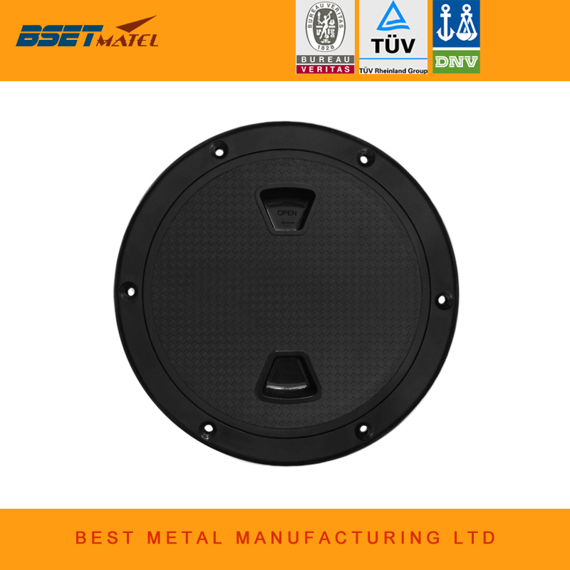 6 inch 8 inch Black Screw Out Inspection Deck Plate Hatch Marine bost yacht Detachable Cover RV Plastic