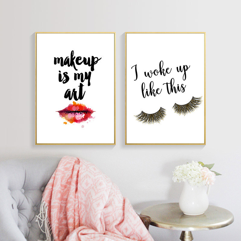 Makeup Girl Wall Pictures Art Print Fashion Beauty Canvas Painting Red Lip Art Poster Eyelash Wall Makeup Girl Wall Pictures Art Print Fashion Beauty Canvas Painting Red Lip Art Poster Eyelash Wall Decor картины HD2613