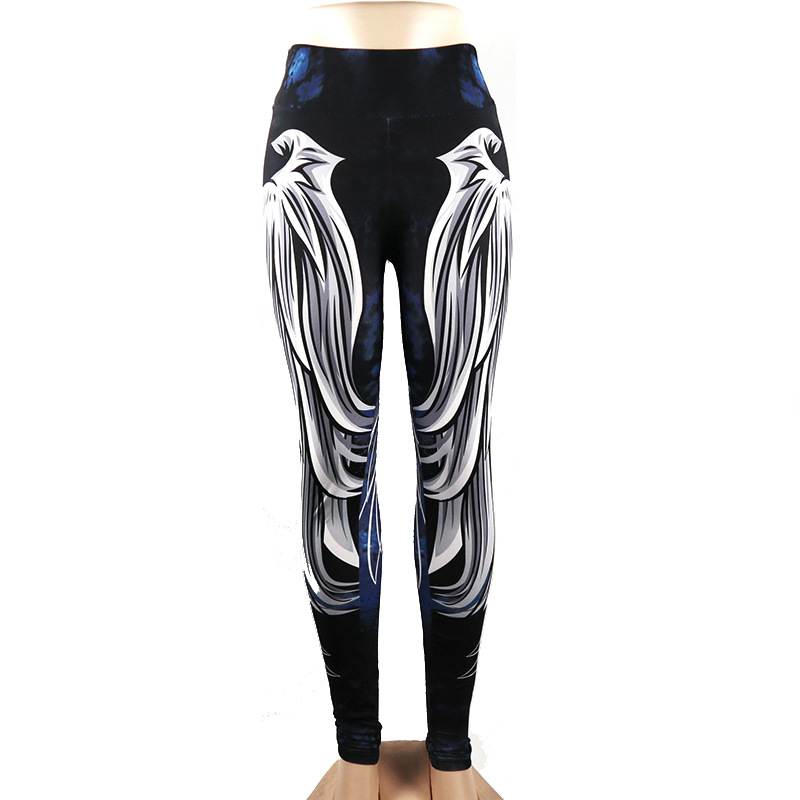 """angel Wings"" Digitale Druck Yoga Hosen Frauen Sexy Hüfte Hohe Taille Sport Leggings Frauen Gym Leggings Workout Yoga Leggings Hohe Sicherheit"