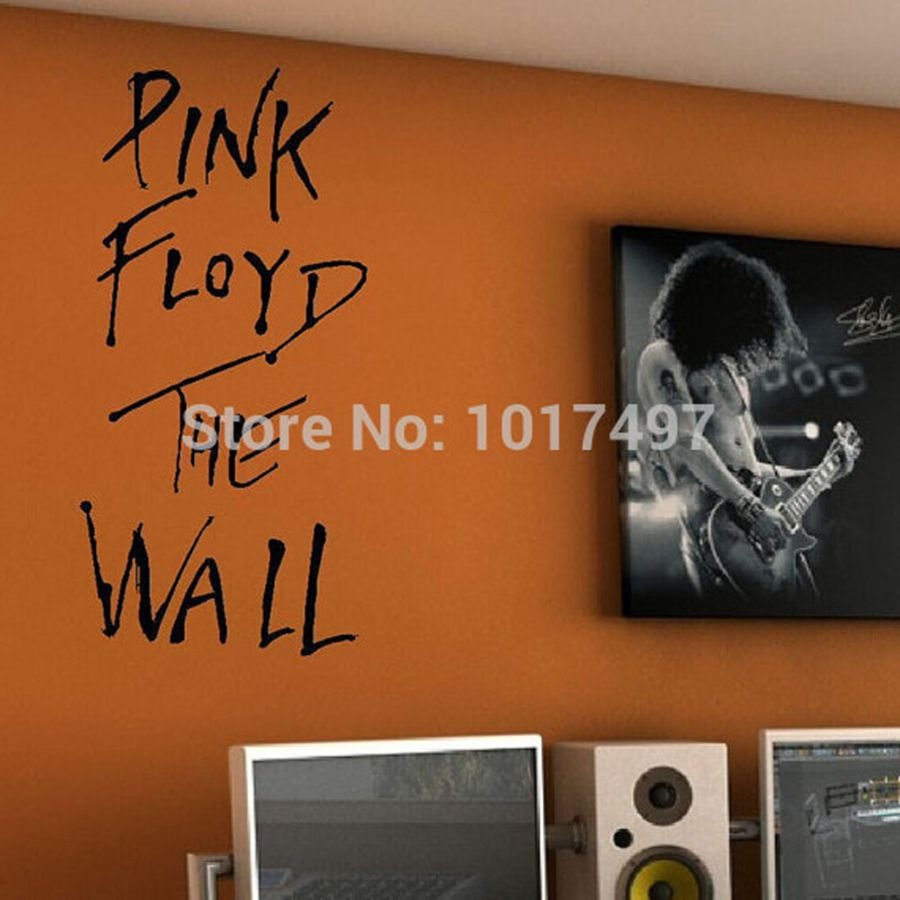 online buy wholesale lyrics wall decals from china lyrics wall pink floyd the wall art vinyl wall decal classic rock music lyrics decal sticker for