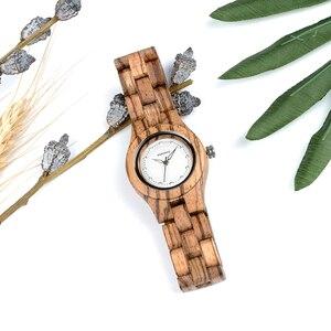 Image 5 - Bobo pássaro relógio feminino único de bambu de madeira jam wanita unik moda quartzo relógios de pulso na caixa presente V O29