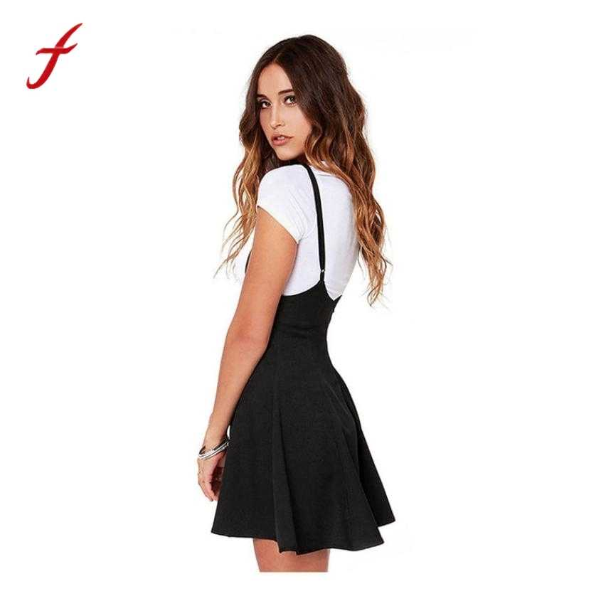 004ee3ea1780 Detail Feedback Questions about Plus Size Summer Dress Women Fashion Black  Dress With Shoulder Straps Pleated Dress Sexy Back With Zipper Dress  ukraine ...