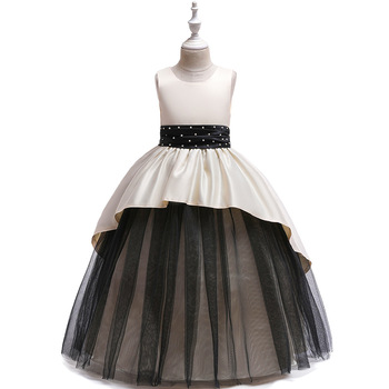 Lovely Flower Girl Dresses for Wedding Satin Ballgown  Long all Gown Birthday Wedding Party Holiday Dresses new red champagne flower girl dresses long sleeves lace satin mother daughter dresses for children christmas party prom gown