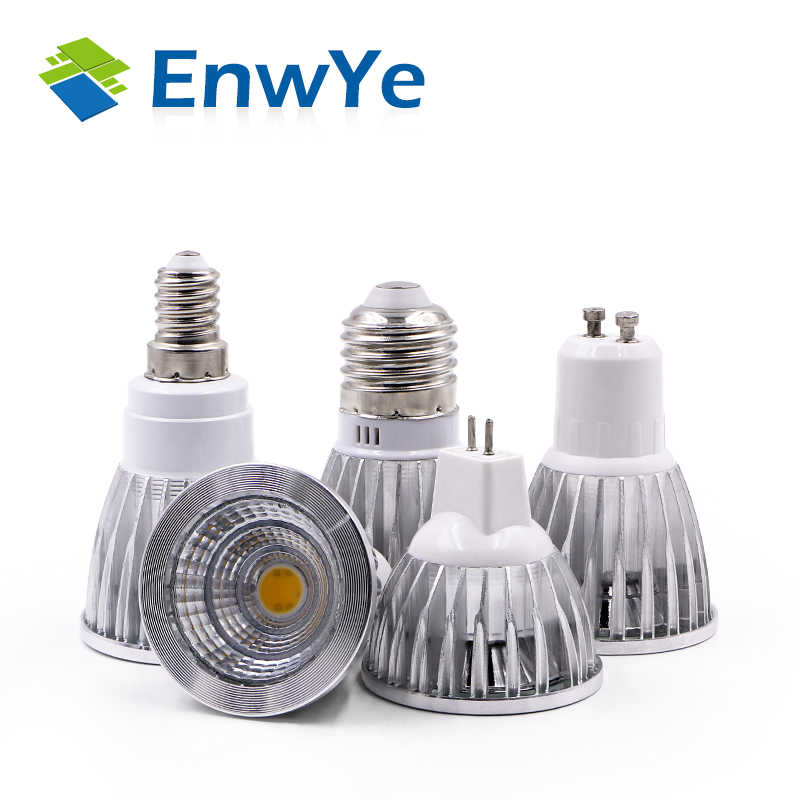 EnwYe 5W 7W LED COB Spotlight 220V LED Lamp Bulbs Light E27 E14 GU10 MR16  LED Bulbs Spotlight