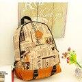 Atacado Graffiti mochila de lona bolsa de ombro homens mulheres impressão bolsa de viagem Simples saco de Escola Faculdade Adolescentes Mochila DL1751