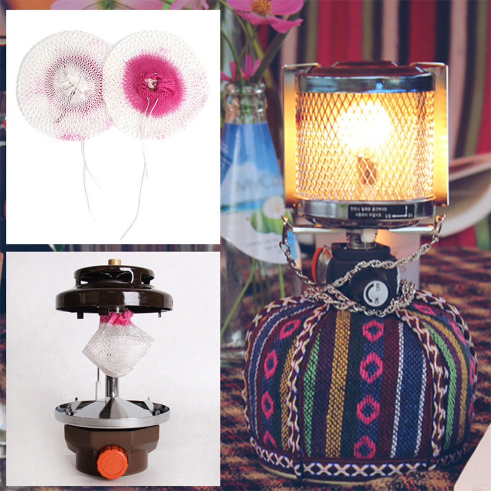 10pcs Camping Gas Lantern Mantles Cover Durable Gauze Mesh Light Safe Outdoor Tools Spare Parts Lampshade Non-Polluting