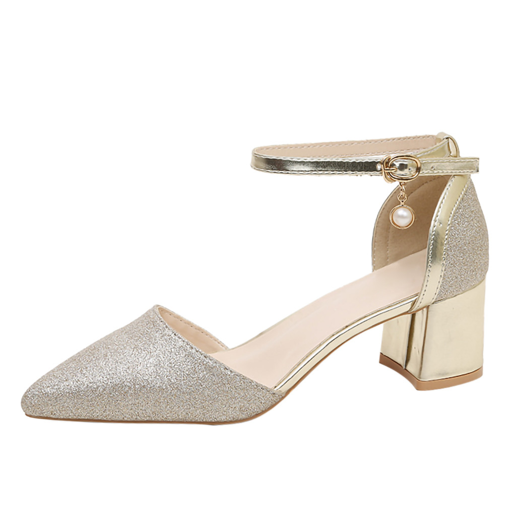 05d2000aaa878 SAGACE Fashion Ladies Sexy High Heels Shoes Women's Pointed Shoes Belt  Buckle Dress Heeled Sandals High Heels Dress Shoes