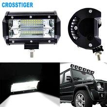 72 واط عمود إضاءة LED بقعة ضوء سيارة القيادة مصابيح كهربائية للدراجات النارية جرار قبالة الطريق ATV UTV SUV Jeep DRL Led ضوء العمل مع قوس