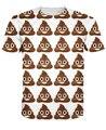 Приходят корма Emoji футболки милый какашка знаки 3d-принт t рубашка одежда топы лето стиль тройник для женщины мужчины