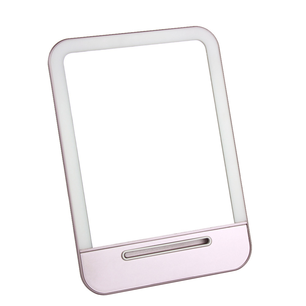 Rechargeable LED Cosmetic Makeup Mirror Portable Night Light Table Lamp Cosmetic Mirrors Makeup Mirror with Light Make up Tools 1pc makeup mirror night light storage led light make up cosmetic table lamp with bluetooth speaker hands free for lady gift a187