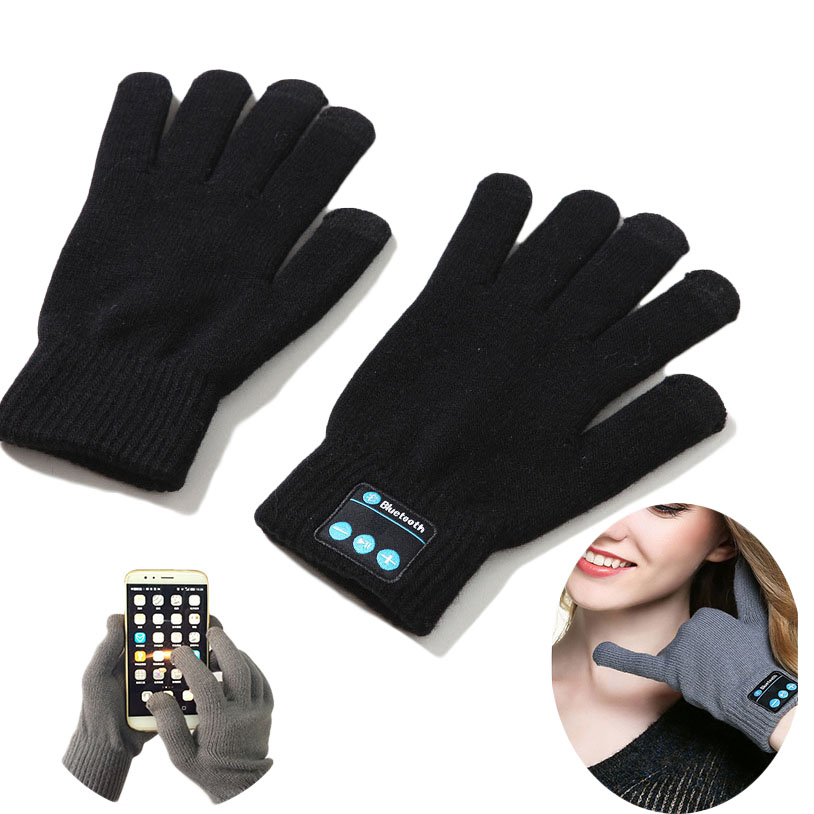 купить Bluetooth Screen Touch Gloves with Built-in Speaker and Microphone USB chargeable port with lithium battery Winter Warm Mittens дешево