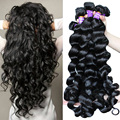 7A Peruvian Virgin Hair Loose Wave Hair Style 3pc Peruvian Loose Curly Virgin Human Hair Weave Bundles Rosa Queen Hair Products
