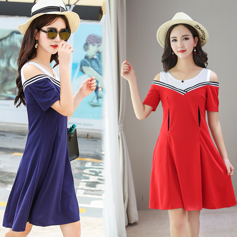 Women Pregnant Maternity Breast-feeding Dress V-Neck Slim Dresses Short Sleeve Stretch Wrap Strapless Pregnant Clothing ...