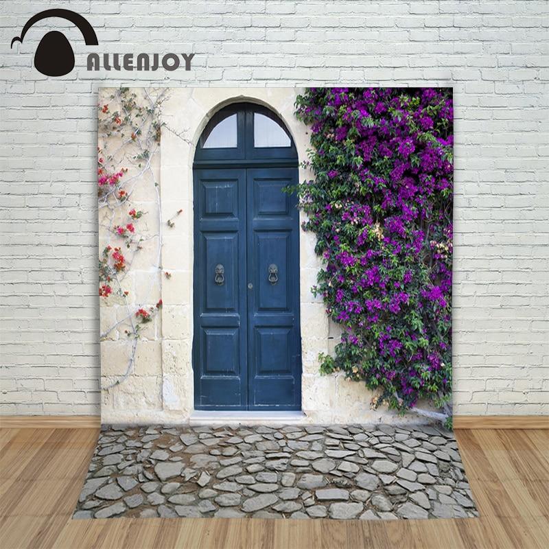 Allenjoy achtergrond mooie Photocall voor bruiloften dorp nobele deur - Camera en foto - Foto 1